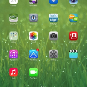 Apple iOS7 Home Screen