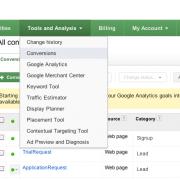 Import Google Analytics conversion goals into AdWords