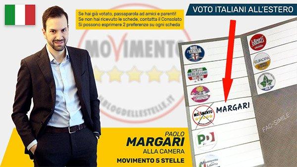 Paolo Margari, candidato M5S alla Camera estero - Europa