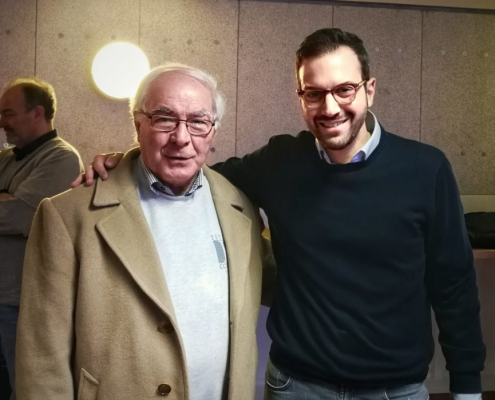 Paolo Margari col Prof Petrella a Bruxelles (2018)