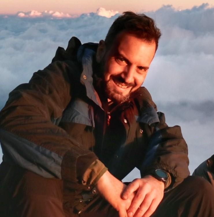 Paolo Margari hiking Volcano Acatenango Guatemala 2020