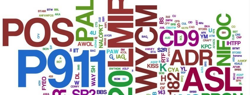 Full Complete List 1500 acronyms abbreviations internet English